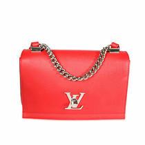 Louis Vuitton Rubis Leather Lockme Ii Bb Bag Photo