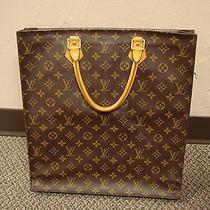 Louis Vuitton Sac Plate Tote Leather Bag Photo