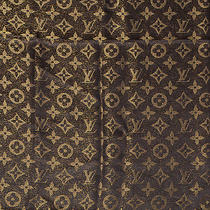 Louis Vuitton Silk Lurex Wool Monogram Shine Shawl Scarf Wrap Brown Lv  Photo