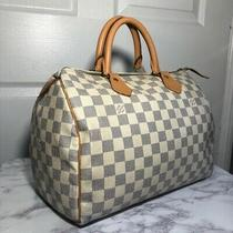 Louis Vuitton Speedy 30 Damier Azur Handbag Photo