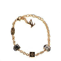 Louis Vuitton Swarovski Gamble Charm Bracelet Crystal Gold Azur Blue Photo