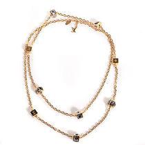 Louis Vuitton Swarovski Gamble Long Necklace Jewelry Wrap Azur Photo