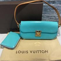 Louis-Vuitton Vernis Set Malibu Purse & Zippy Wallet Remastered Gift Box Blue Photo