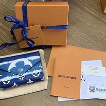 Louis Vuitton Victorine Escale Blue Wallet Nib W Receipt Tags Etc Photo