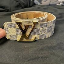 Louis Vuitton White Classic Gold Belt 90-36 Photo