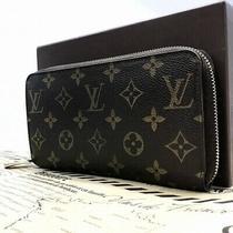 Louis Vuitton Zippy Wallet Length Purse Round Zip Monogram Do145-293 Photo