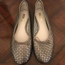 Louise Et Cie Womens Leather Silver Rose Gold  Ballet Flat Size 9 Mint Condition Photo
