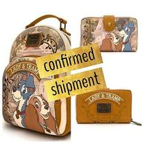 Loungefly Disney Lady and Tramp Together Forever Mini Backpack & Wallet Confirm Photo