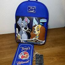Loungefly Disneys Lady and the Tramp Mini Backpack & Wallet - Nwt Photo