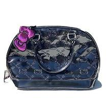Loungefly Large Hello Kitty Sanrio Black Patent Handbag Tote Purse 14x11x6.5 Photo