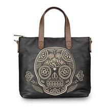 Loungefly Purse Black & Brown Natural Sugar Skull Crossbody Bag Tote Photo