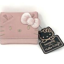 Loungefly X Hello Kitty Metallic Pink Face  Mini Wallet Photo
