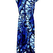 Love...ady Womens Blue Floral Off-the-Shoulder Flare Leg Cropped Jumpsuit Sz Xs Photo