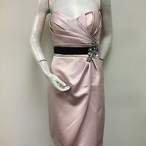 Love Blush Pink Strapless Draped Beaded Accent Cocktail Dress A15 Sz 6 Prom Nwt Photo