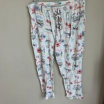 Love by Gap Capri Crop Pajama Pant Womens M Photo