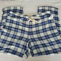 Love by Gap Pajama Sleep Pants Womens  Xl Blue Plaid Tie Front Lounge Pants  Photo