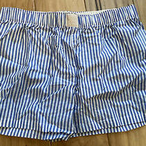 Love by Gap Pinstriped-Sleep Blue and White  Shorts Size Xs Photo