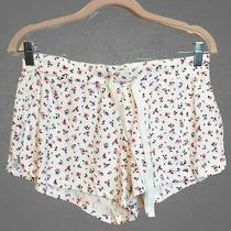 Love by Gap Size Medium Intimates White Floral Pj Sleep Pajama Shorts Photo