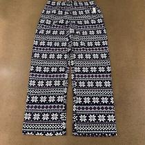 Love by Gap Women's Size Small Navy Blue Fair Isle Flannel Pajama Pants Nwt Photo