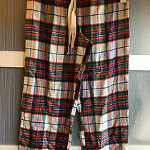 Love by Gap Womens Pajama Lounge Pants Plaid Red White Blue Size Medium Nwt Photo