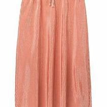 Love Fire Girls Skirt Blush Pink Size Large L Pleated Satin Tie Waist 093 Photo