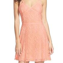 Love Fire New Blush Pink Medium M Junior Lace a-Line Sheath Dress 44 820 Deal Photo