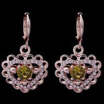 Love Heart Hot Rose Gold Filled C.z Women Lady Dangle Earrings Jewelry Cz0135 Photo