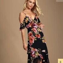 Love in Bloom Black Dress Size Medium Photo