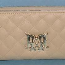 Love Moschino  Beige Quilted Clutch Wallet Boxed & Nwt  Authentic Photo
