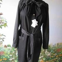 Love Moschino Black Long Sleeve Dress Pearl Buttons Size 8 Nwt 500 Photo