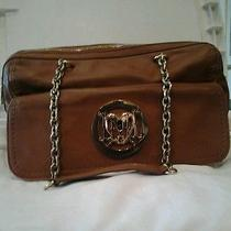 Love Moschino Cognac Brown Leather Shoulder Bag Photo