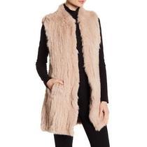 Love Token 100% Genuine Rabbit Fur Long Vest in Blush - New - Medium Photo
