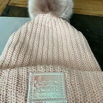 Love Your Melon Blush Pom Beanie Peach Iridescent Patch  Photo