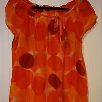 Lovely Bright Colored Theory Size L Tunic in Oranges Reds and Burgundies  Photo