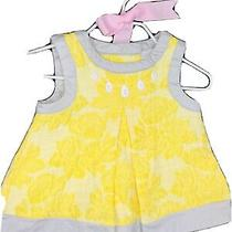 Lovely Camilla 3-6 Mo Baby Yellow Bow Summer Fancy Dress  Photo