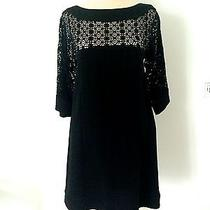 Lovely M Missoni Italy Blk Linen Macrame Eyelet Embroidery Details Dress Small Photo