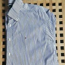 Lovely Mens Medium M Tommy Hilfiger '80's Two Ply Cotton' Short Sleeve Shirt Photo