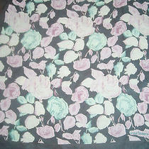 Lovely Small Cacharel Silk Floral Square Scarf Photo