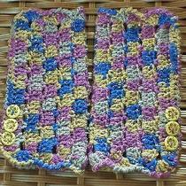 Lovely Wrist Warmers / Fingerless Gloves for Ladies /teens -Blue Rose Gold Photo