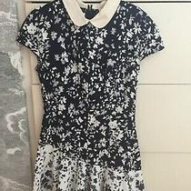 Lover the Label Floral Bloom Dress Black and White- Us Size 2/4 Peter Pan Collar Photo