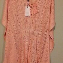 Loveriche Crochet Knit Swimsuit Coverup in Blush Size S Pullover Photo