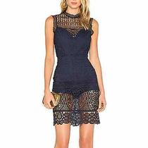 Lovers  Friends Navy Open Back Blush Dress Nwt S Photo