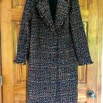 Lovers  Friends Women's Stylish Black Multicolor Coat Size S Photo