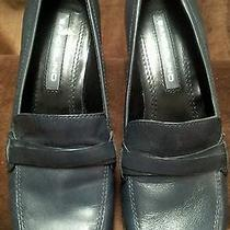 Low Heel Casual Dress Shoe by Bandolino..leather...gently Worn ..6m..navy.. Photo