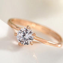 Low Price Eternity 18k White Gold Filled White Sapphire Flamboyant Gift Ring Photo