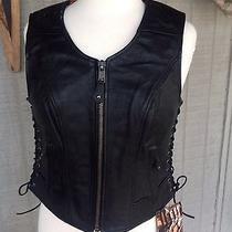Lowered My Priceladiestrue Element Black Leather Vest M Photo