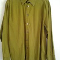 Lqqk Mens Express Green Stretch Fit Dress Shirt Size Medium Free Shipping Photo