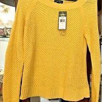 Lrl Lauren Jeans Co. Ralph Lauren Golden Yellow Loose Knit Pink Sweater Large L Photo