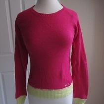 Ls Sweater - Aeropostale - Pink  / Yellow - Sz X-Small Photo