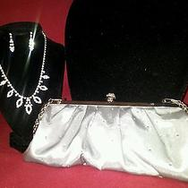 Lu Lu Towensend Evening Bag Rhinestone Necklace With Matching Pierced Earings Photo